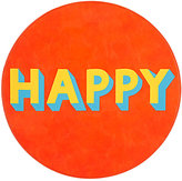 "Lisa Perry Reversible ""Happy"" Circular Placemat"