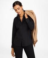 Brooks Brothers Petite Non-Iron Tailored-Fit Stretch Supima Cotton Dress Shirt