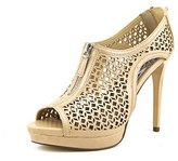 Carlos by Carlos Santana Acara Women Open Toe Synthetic Nude Platform Sandal.
