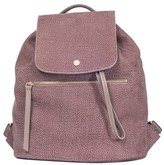 Borbonese Women's Grey/pink Leather Backpack.