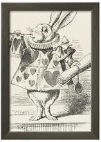 The White Rabbit in Herald'S Costume by John Tenniel (Framed)