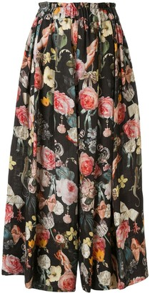 Romance Was Born Jardin cropped culotte trousers
