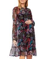 Queen Mum Women's Dress Woven Nurs Ls AOP Milan