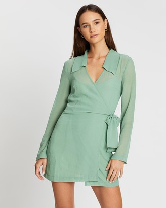 Third Form Crush Wrap Collar Dress