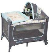 Baby Trend Serene Infant Nursery Center Portable Playard Bassinet, Mod Dot, Blue Green Grey by