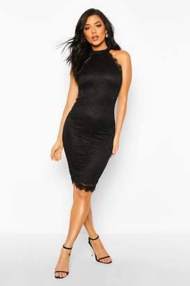 boohoo Lace Top Midi Dress