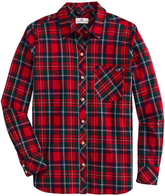 Vineyard Vines OUTLET Women's Glades Plaid Twill Relaxed Button-Down