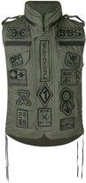 Kokon To Zai multi patches waistcoat