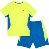 New Balance Boys 4-7 Colorblocked Performance Tee & Shorts Set