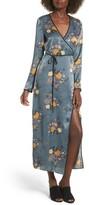 Soprano Women's Satin Wrap Kimono