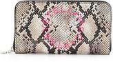 Stella McCartney Stella Logo snakeskin-effect wallet