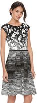 Elle Women's ELLETM Abstract Floral Fit & Flare Dress