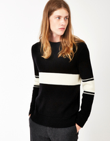 Gant Varsity Wool Knit Jumper Black