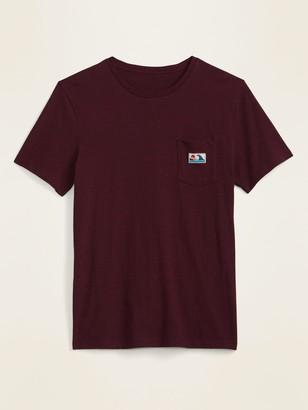 Old Navy Slub-Knit Graphic-Label Pocket Tee for Men