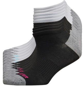 Pro Player Womens Twelve Pair Pack Cushioned Low Cut Socks White/Black
