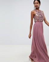 Asos DESIGN maxi dress with cluster embellished bodice