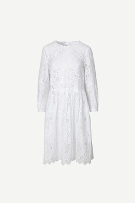 Samsoe & Samsoe Junia Dress, white - XS/34 | cotton | white - White/White