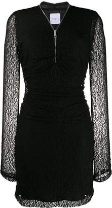 Gaelle Bonheur lace-detail fitted dress