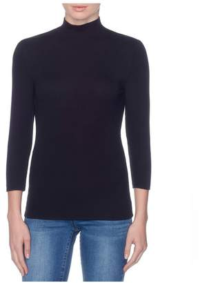 Magaschoni Micromodal Mock Neck Top