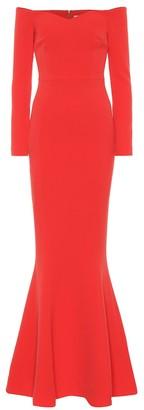 Rebecca Vallance L'amour off-the-shoulder crApe gown