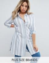 Junarose Striped Longline Shirt