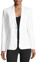 Elie Tahari Bonnie One-Button Embroidered Jacket
