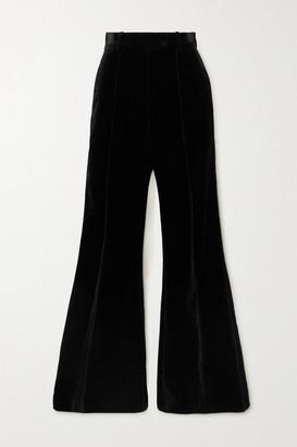 Racil Lincoln Cotton-blend Velvet Flared Pants - Black