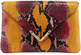 Elaine Turner Designs Bella Python-Embossed Envelope Clutch Bag, Yellow/Multi