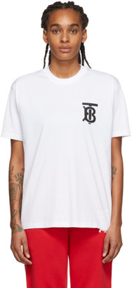 Burberry White Emerson T-Shirt