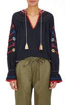 Ulla Johnson Women's Vania Embroidered Silk Blouse