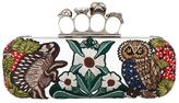 Alexander McQueen Embellished Knuckle Box Clutch