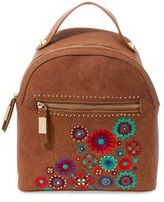 Steve Madden Embroidered Zipped Backpack