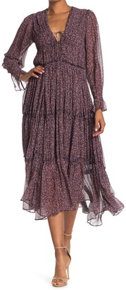 Jonathan Simkhai Eliza Floral Crinkle Chiffon Dress
