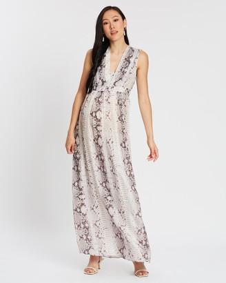 Isabella Oliver Zahara Silk Maternity Maxi Dress