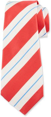 Kiton Men's Large Satin Stripe Tie