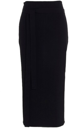 Jil Sander Tie-Waist Pencil Skirt