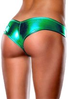 Honey-Q HQ Sexy Women Faux Leather Thong Shorts Panties Lingerie G-String Underwear