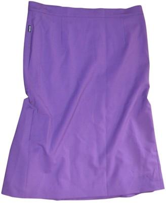 Moschino Love Purple Wool Skirt for Women