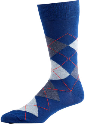 Marcoliani Milano Men's Pima Cotton Argyle Socks