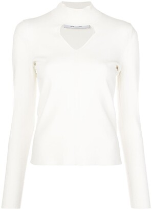 Proenza Schouler White Label Cut Out Knitted Top