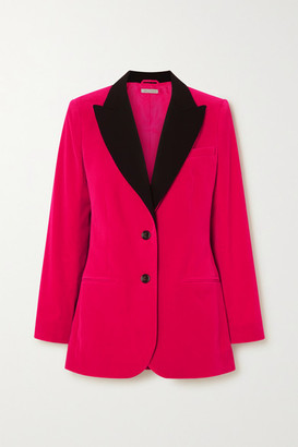 Bella Freud Saint James Wool-trimmed Cotton-velvet Blazer - Pink