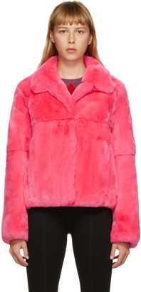 Yves Salomon Meteo Yves Salomon - Meteo Pink Fur Crop Coat