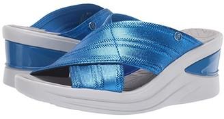 Bzees Vista (Bright Blue Metallic Fabric) Women's Sandals