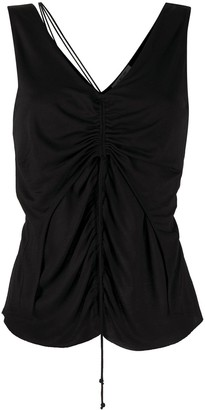 Helmut Lang Scala ruched sleeveless top