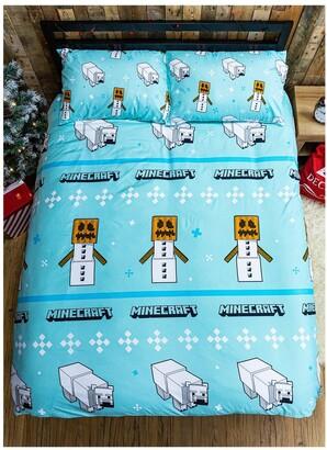 Minecraft Polar Bear Christmas Double Duvet Cover Set