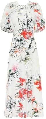 Alexander McQueen Floral silk midi dress