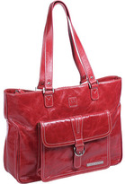 Clark & Mayfield Women's Stafford Vintage Leather Laptop Tote 17.3