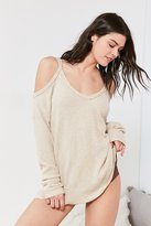Out From Under Cold Shoulder Cozy Thermal Top