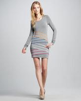 Bailey 44 Triathlon Cross-Stripe Dress