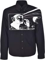 Prada Printed Long Sleeves Button Shirt